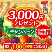 メロディアン 飲むグラノーラ 現金3,000円プレゼントキャンペーン