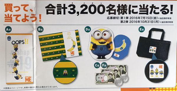 チキータバナナ ミニオンズキャンペーンプレゼント賞品