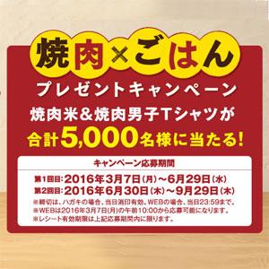 エバラ 黄金の味 焼肉米 焼肉Tシャツ キャンペーン
