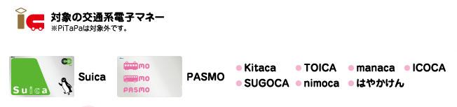 スイカ パスモ 2017春のコンビニキャンペーン対象交通系電子マネー