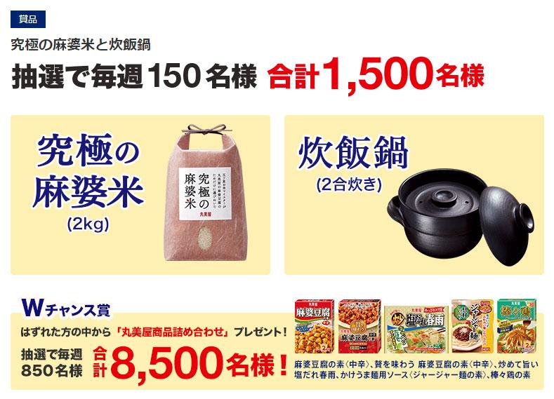 丸美屋 麻婆豆腐2017春の懸賞キャンペーン懸賞品