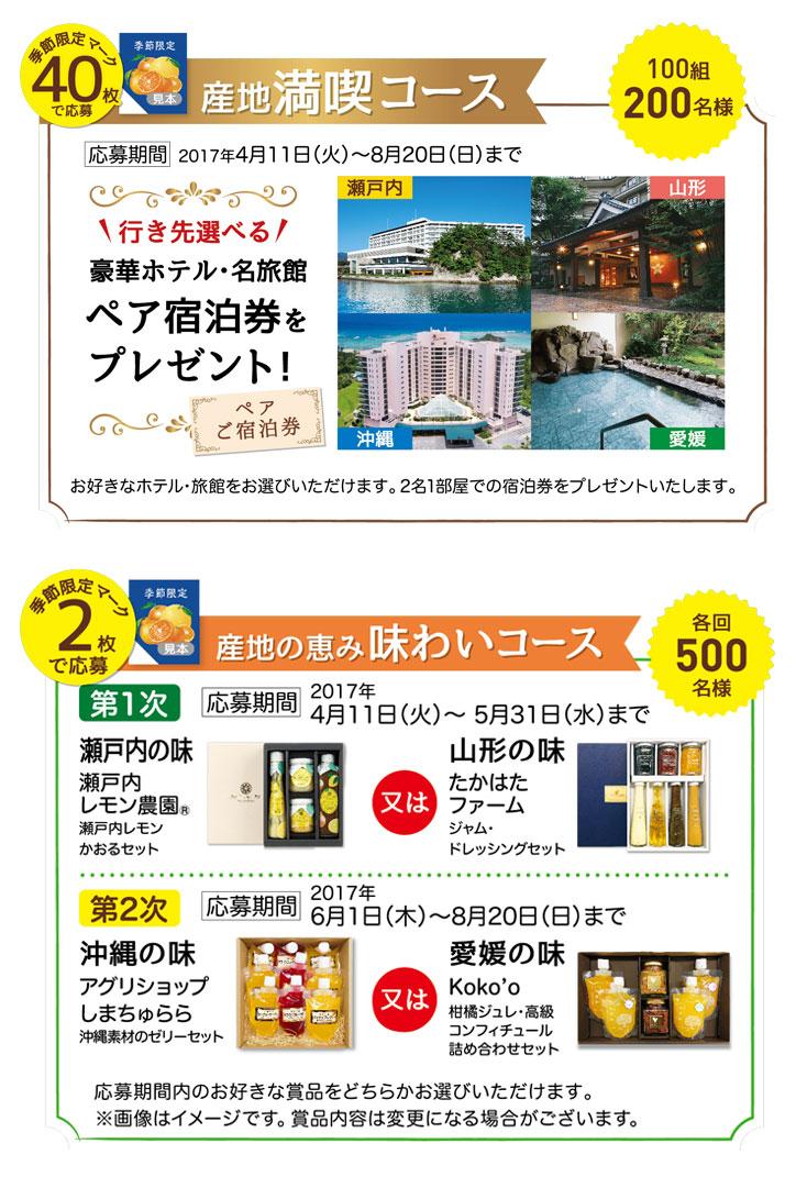 カゴメ野菜生活100 2017季節限定懸賞キャンペーンプレゼント懸賞品