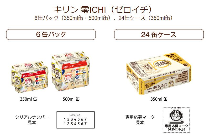 キリン 零ICHI ゼロイチ 絶対もらえる懸賞キャンペーン 2017夏 対象商品
