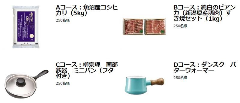 三幸製菓 あられ おかき 2017夏秋の懸賞キャンペーン プレゼント懸賞品