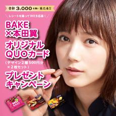 ベイク BAKE 2017~18 本田翼 懸賞キャンペーン