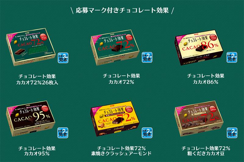 チョコレート効果 2017~18年 懸賞キャンペーン対象商品