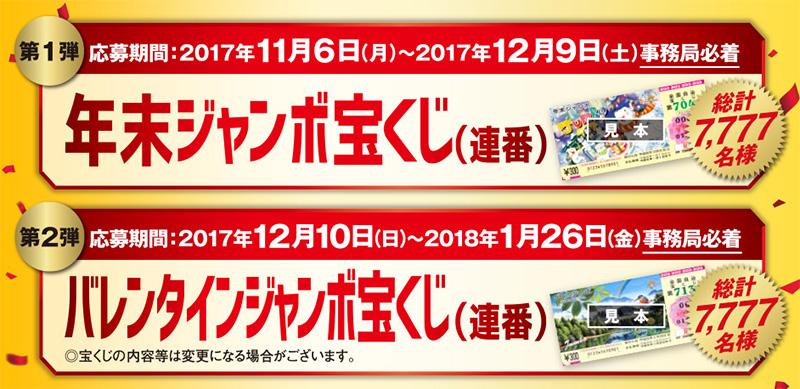 アサヒビール ジャンボ宝くじ懸賞キャンペーン2017 プレゼント懸賞品