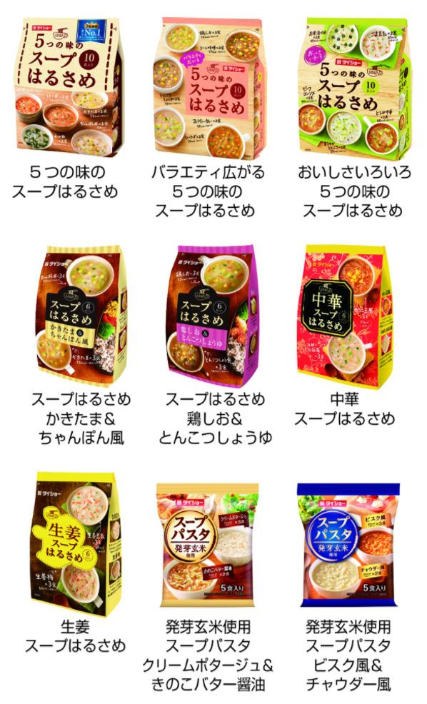ダイショー スープはるさめ パスタ 2017懸賞キャンペーン 対象商品