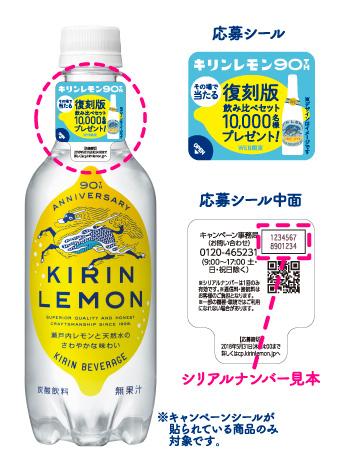 キリンレモン 復刻懸賞キャンペーン2018春 対象商品