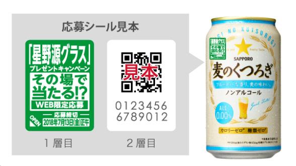 麦のくつろぎ 星野源 懸賞キャンペーン2018 対象商品