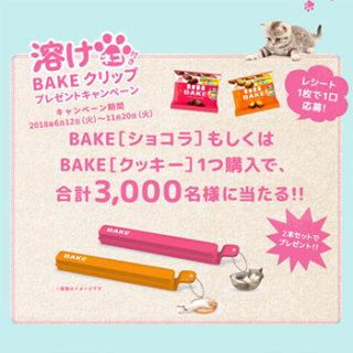 ベイク BAKE 溶けネコ 懸賞キャンペーン2018