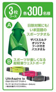 3枚コース フード付きバスタオル