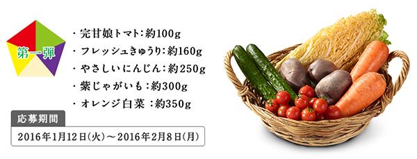 5色の野菜セット