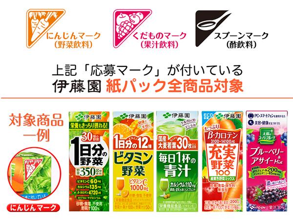 伊藤園紙パックキャンペーン対象商品