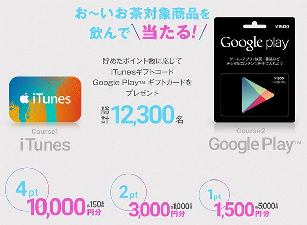 iTunesギフトコード Google Playギフトカード