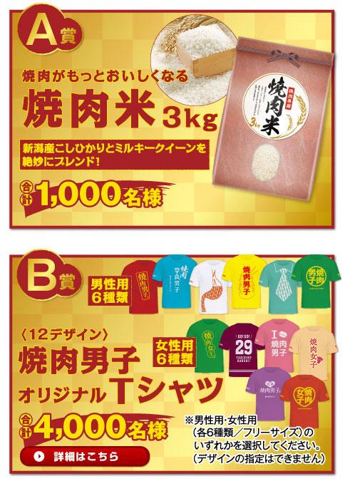 エバラ黄金の味 焼肉男子キャンペーン賞品