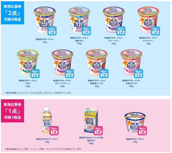 朝食BifiXビフィックス キャンペーン対象商品