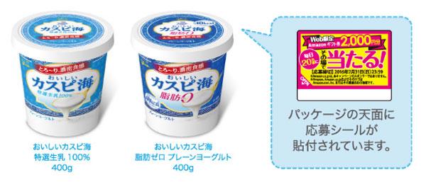 おいしいカスピ海ヨーグルト キャンペーン対象商品