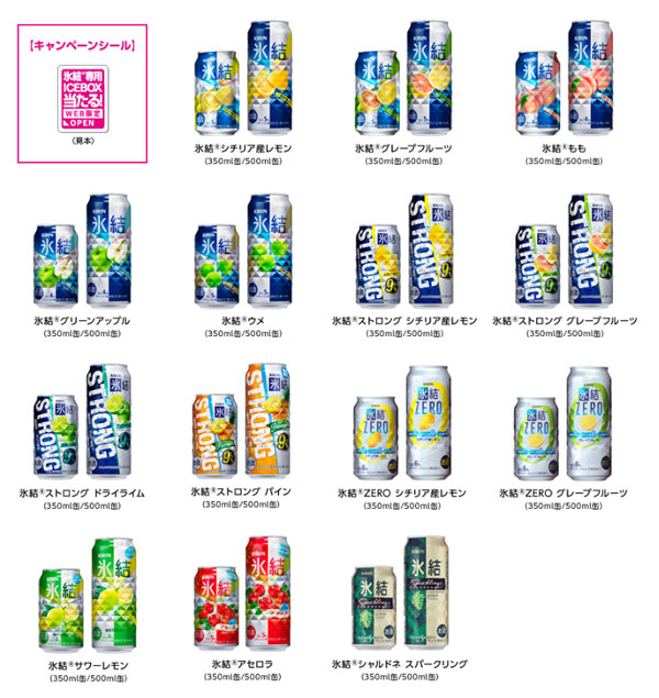 氷結 アイスボックスキャンペーン対象商品