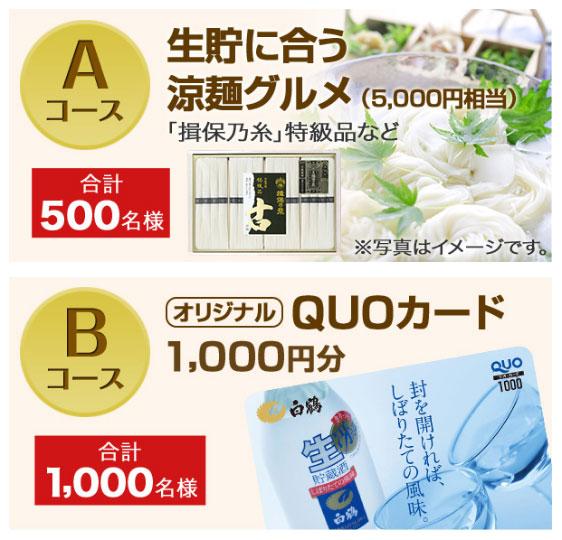 白鶴 生貯蔵酒キャンペーン賞品