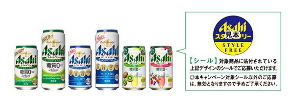 アサヒスタイルフリー 2016キャンペーン対象商品