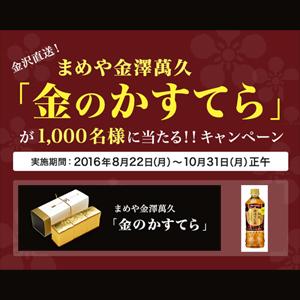 加賀棒ほうじ茶 2016年キャンペーン 金のかすてら