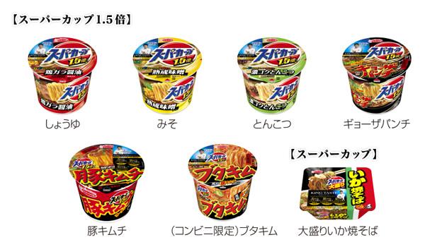 エースコック スーパーカップキャンペーン対象商品