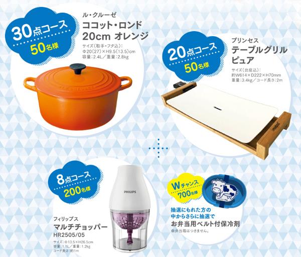 おいしい牛乳2016年秋冬キャンペーン賞品
