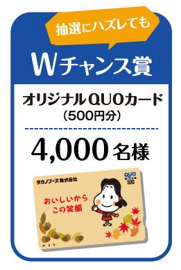 タカノフーズ 2016年キャンペーン賞品 Wチャンス