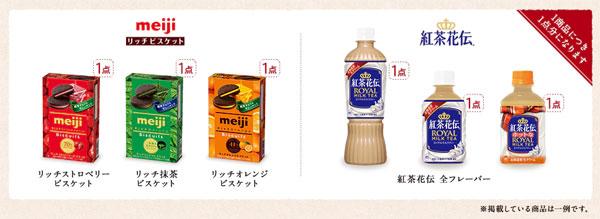 リッチビスケット 紅茶花伝 2016年キャンペーン対象商品