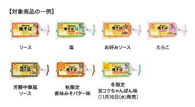 マルちゃん焼きそば 2016年キャンペーン対象商品