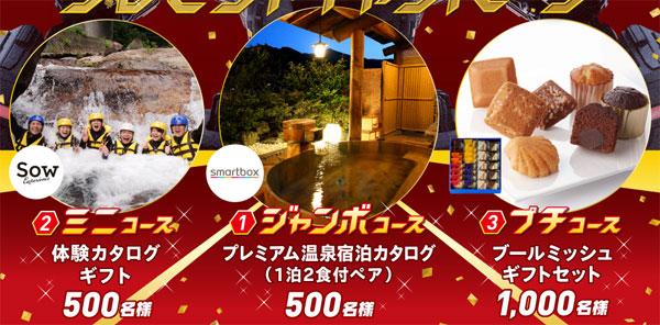 年末ジャンボ宝くじ 2016キャンペーン賞品