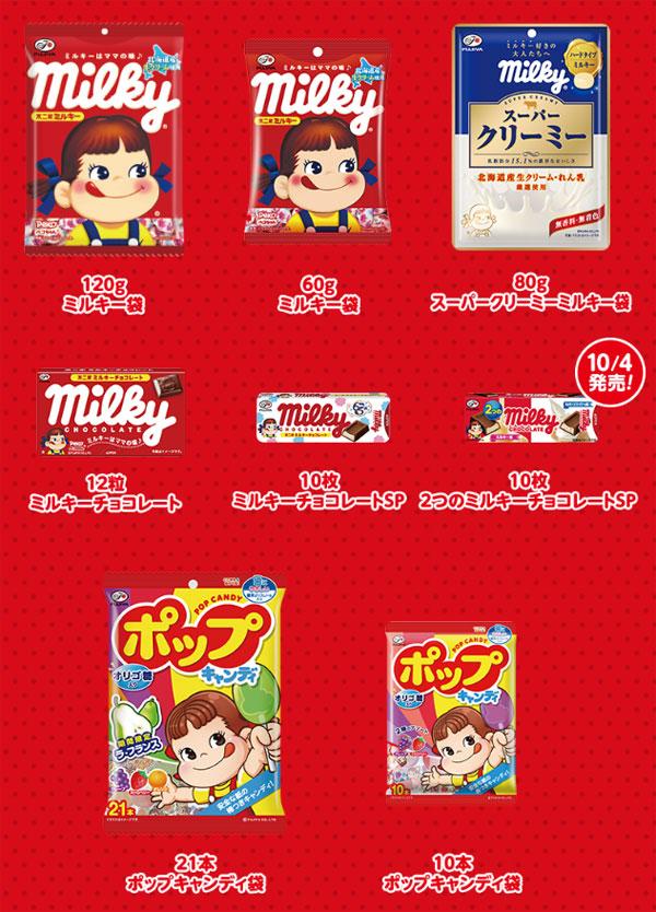 ミルキー65周年記念キャンペーン対象商品