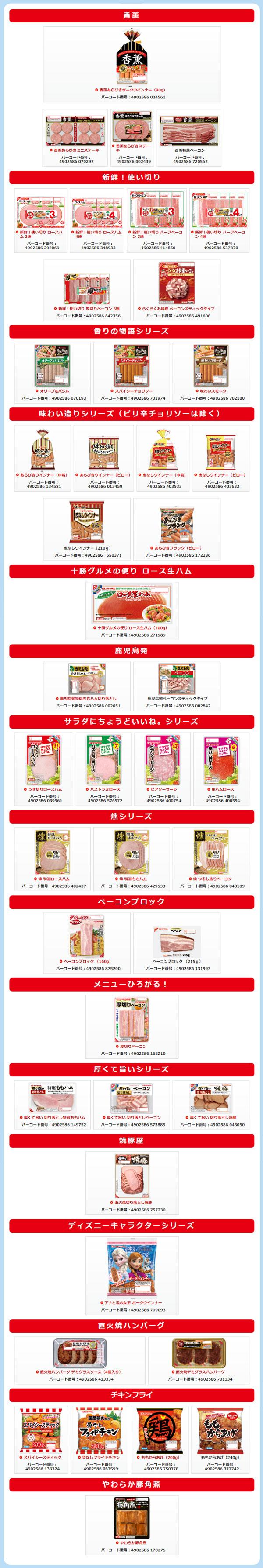 プリマハム 香薫 ディズニーキャンペーン対象商品