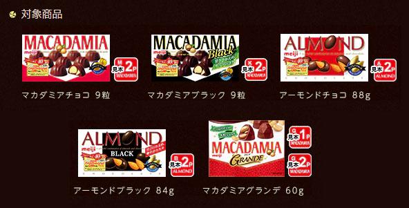 マカダミア40周年40種類プレゼントキャンペーン対象商品