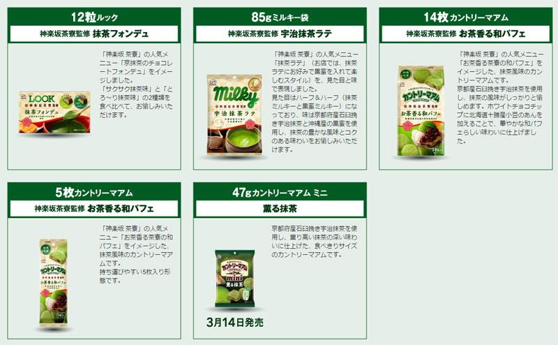 不二家 抹茶お菓子懸賞キャンペーン2017 対象商品
