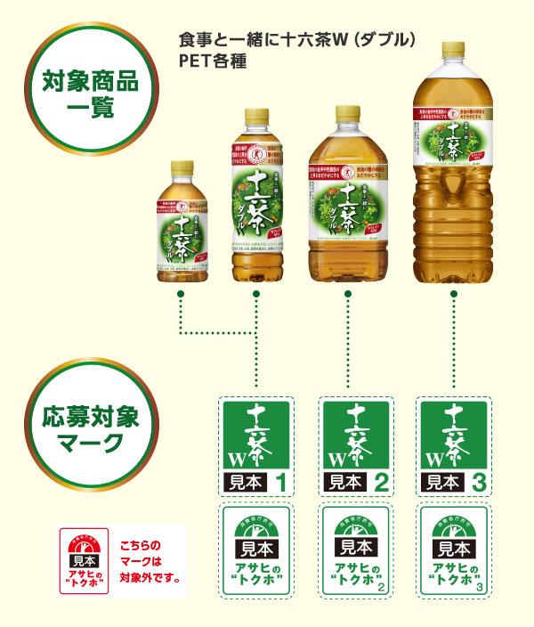 十六茶Wダブル 2017年春の懸賞キャンペーン対象商品