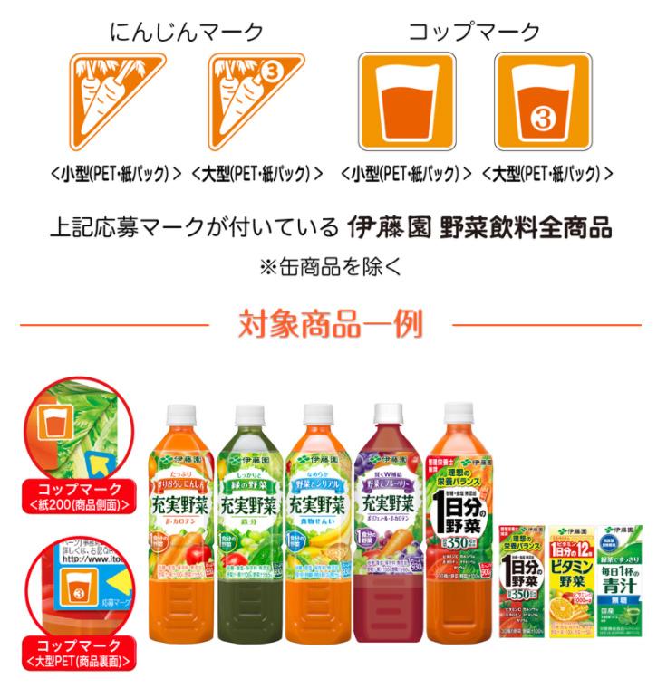 伊藤園 充実野菜 2017秋 懸賞キャンペーン 対象商品
