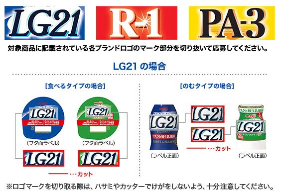 LG21 R1 PA3 プロビオヨーグルト2017懸賞キャンペーン 応募マーク