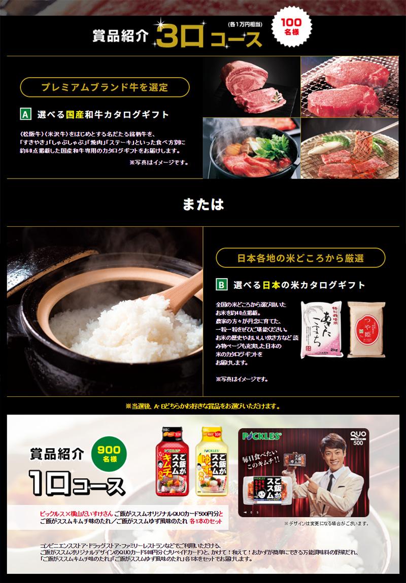 ご飯がススム キムチ 懸賞キャンペーン2017 プレゼント懸賞品