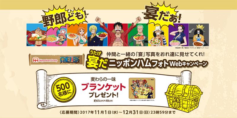 ニッポンハム ワンピースWeb懸賞キャンペーン2017