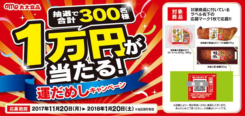 丸大食品 運だめし懸賞キャンペーン2018