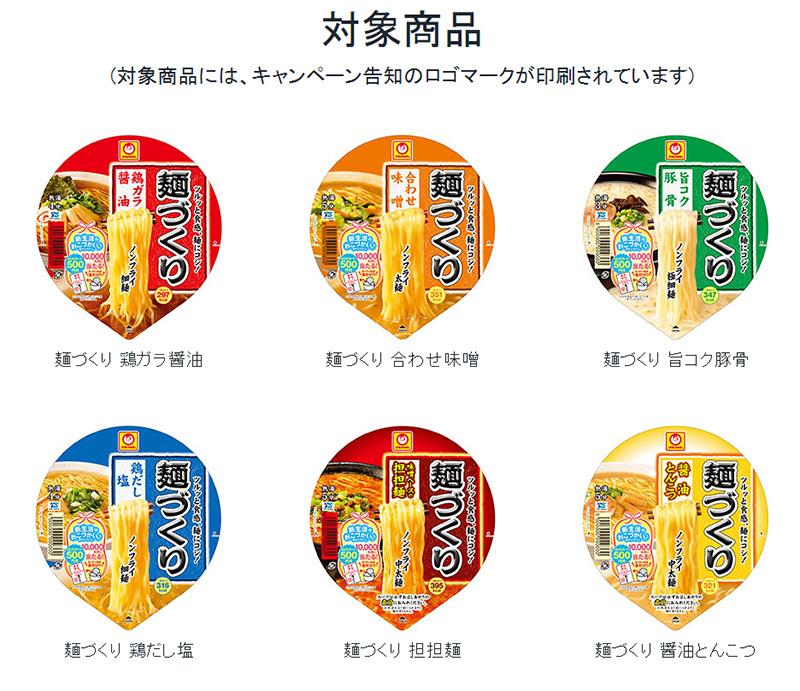 マルちゃん麺づくり 懸賞キャンペーン2018春 対象商品