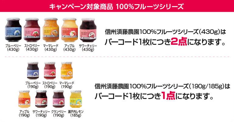スドージャム 懸賞キャンペーン2018春 対象商品