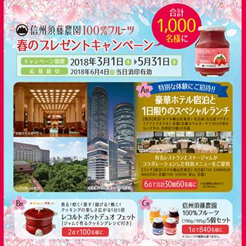 スドージャム 懸賞キャンペーン2018春