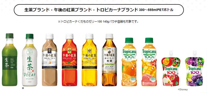 生茶 午後ティー ディズニー懸賞キャンペーン2018春 対象商品