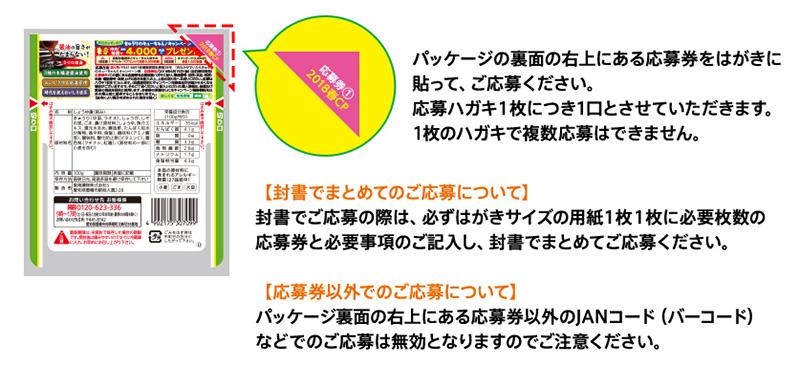 きゅうりのキューちゃん 懸賞キャンペーン2018春 応募方法