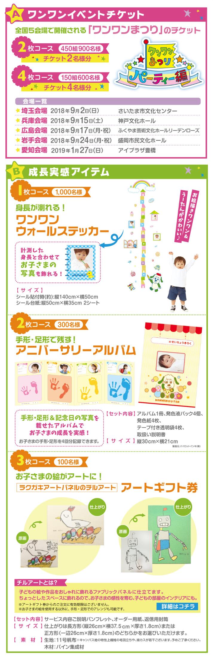 幼児のみもの ワンワンまつり懸賞キャンペーン2018 プレゼント懸賞品