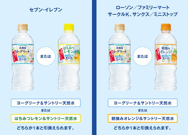 サントリー 天然水 無料懸賞キャンペーン2018夏 プレゼント懸賞品