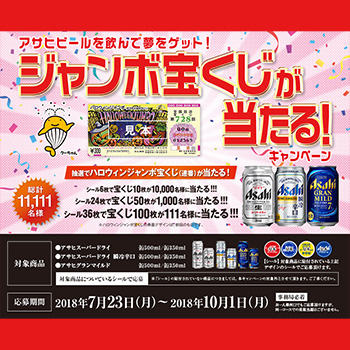 アサヒビール スーパードライ 懸賞キャンペーン2018夏